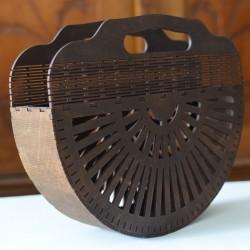 Koszyk torebka z drewna