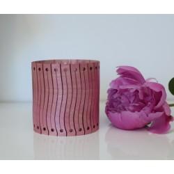 Bransoletka drewniana różowa