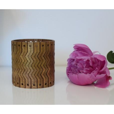 Drewniana bransoletka stare złoto