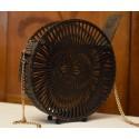 Drewniana torebka okrągła