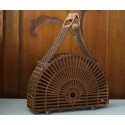 Drewniana torebka koszyk