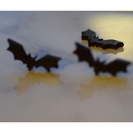 kolczyki nietoperze z drewna